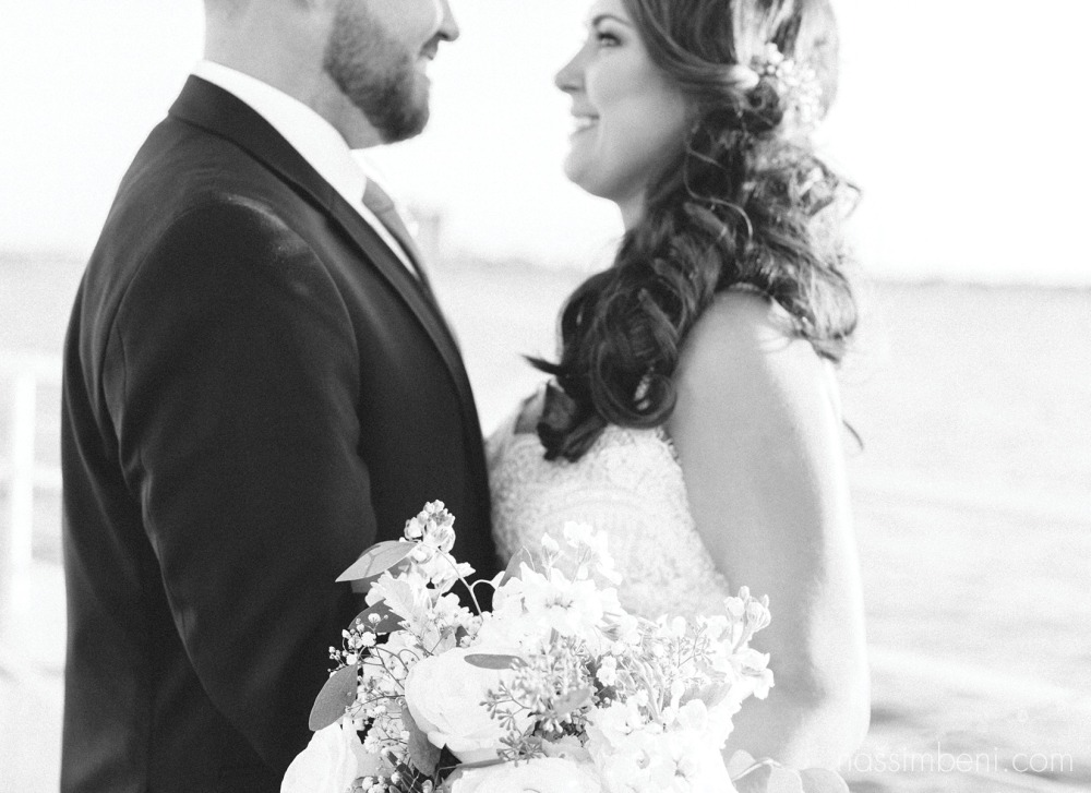 bride and groom catalina yacht wedding by nassimbeni photography