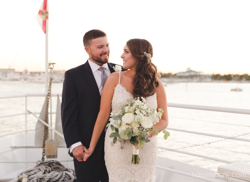 treasure coast wedding photographer on yacht wedding by nassimbeni photography