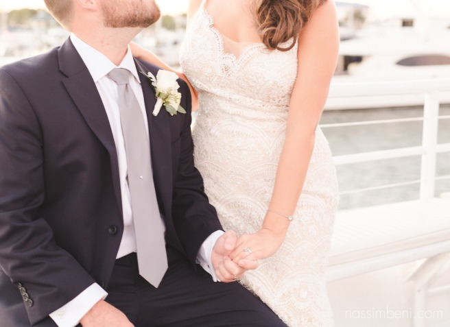 Palm Beach yacht wedding with coastal theme and navy suits taken by nassimbeni photography