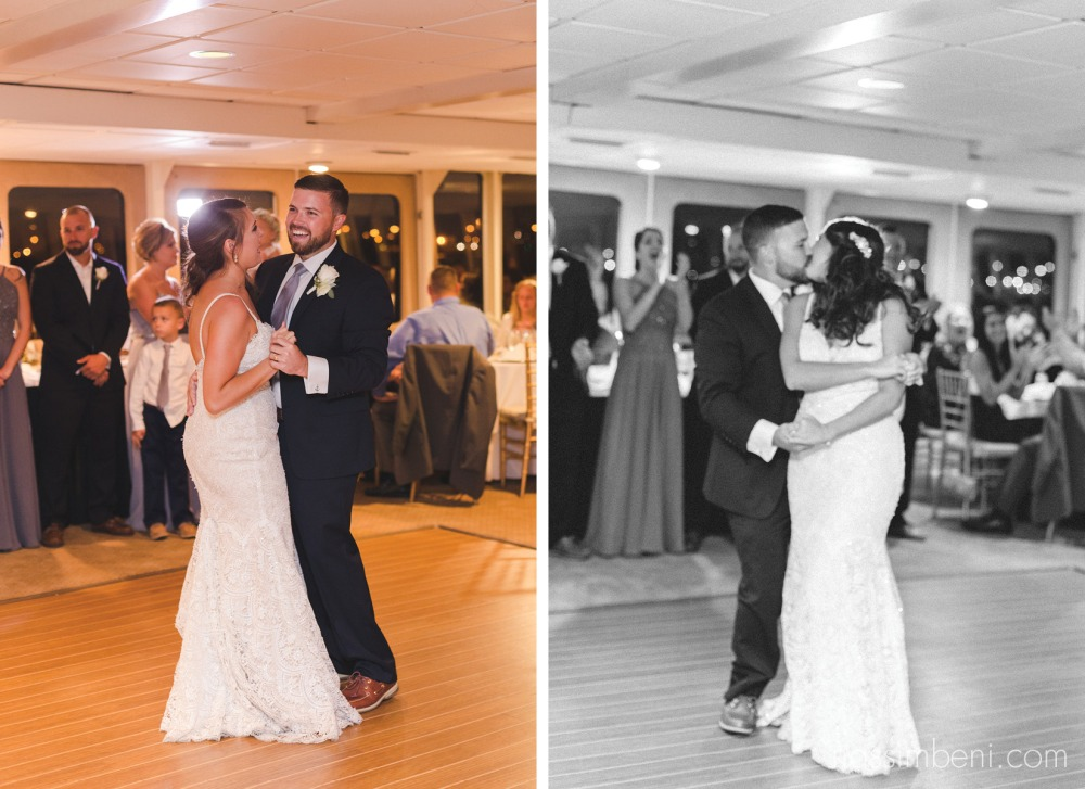 first dance as bride and groom on catalina yacht wedding by nassimbeni photography