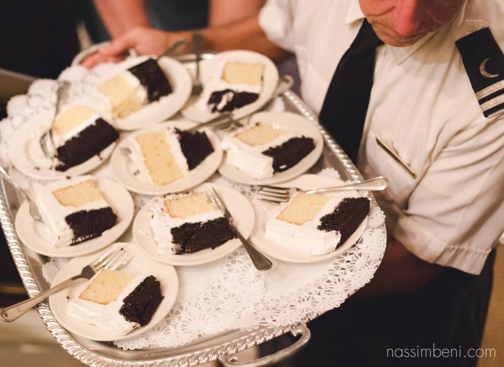 cake aboard the catalina yacht wedding by nassimbeni photography
