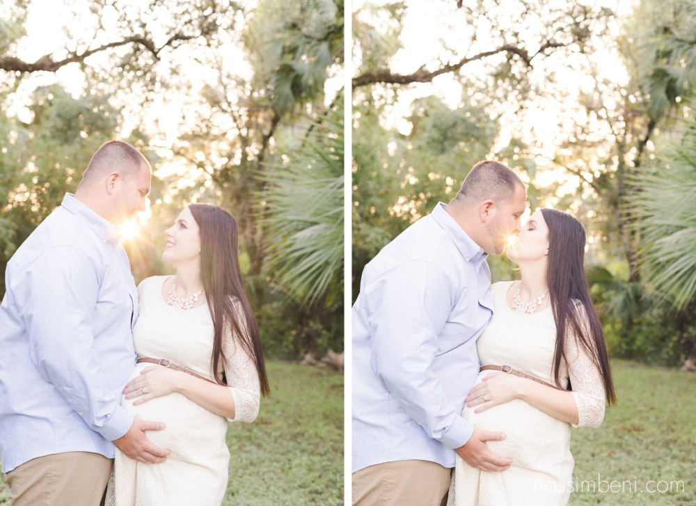 sunset maternity photos at ft pierce florida park by Nassimbeni Photography