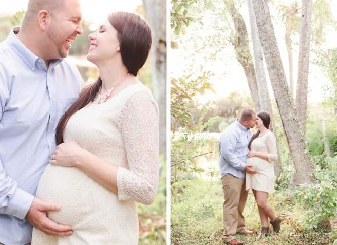 cute couple at ft pierce maternity photos by Nassimbeni Photography