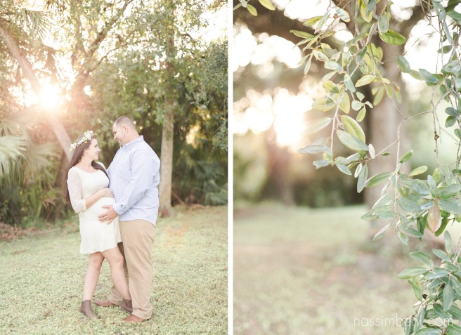 maternity photos in a florida forest by Nassimbeni Photography