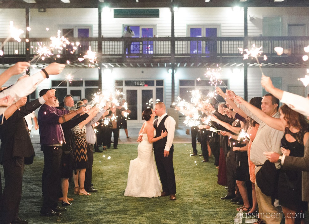 sparkler exit at indian riverside park WEDDING
