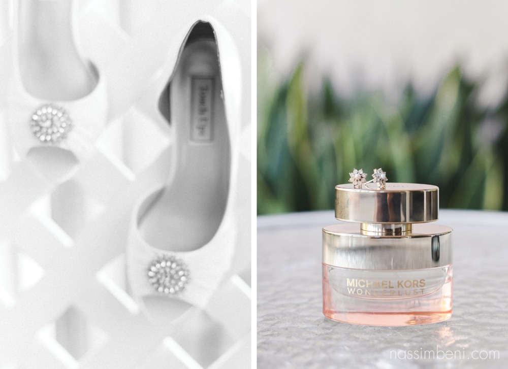 michael kore wedding perfume with earrings and shoes Hutchinson Island Marriott