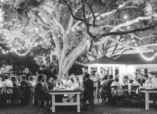bellewood plantation reception on the lawn with market lights by nassimbeni photography