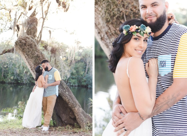 couple by the trees at white city park by port st lucie florida wedding photographer nassimbeni photography