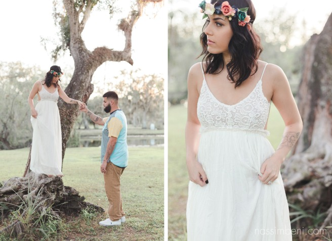 white gown on three by Nassimbeni Photography at white city park