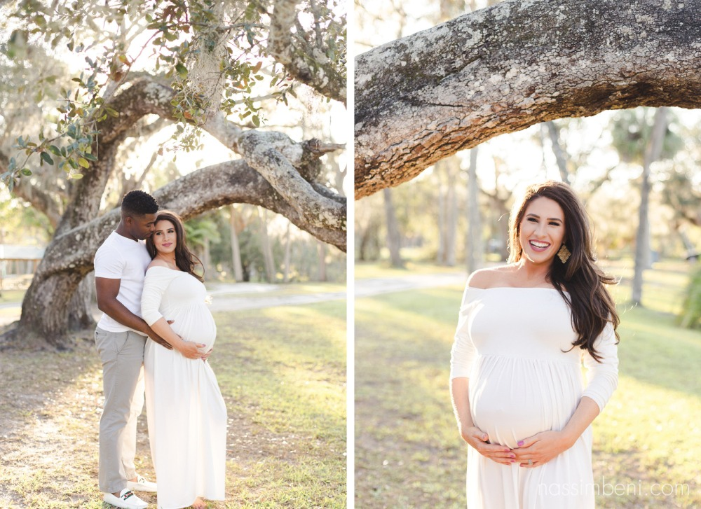 interracial couple at white city park maternity photos by nassimbeni photography