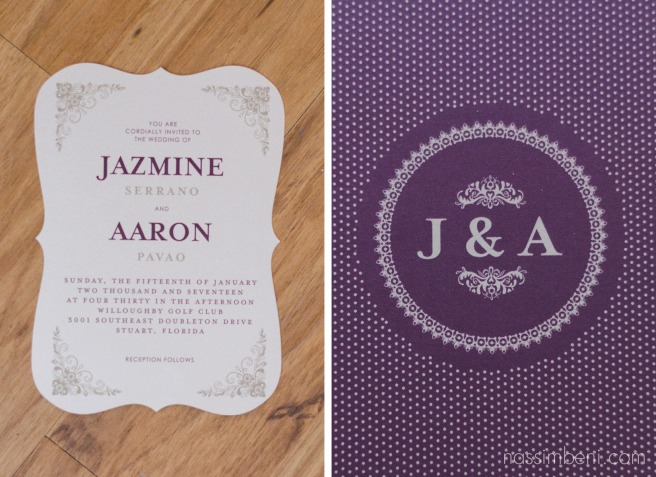 wedding paper divas stationary wedding invitation by Nassimbeni Photography