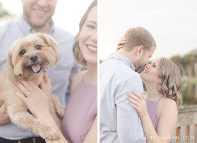 puppy and engagement photos at Gleason Park for sunrise by port st lucie wedding photographer nassimbeni photography