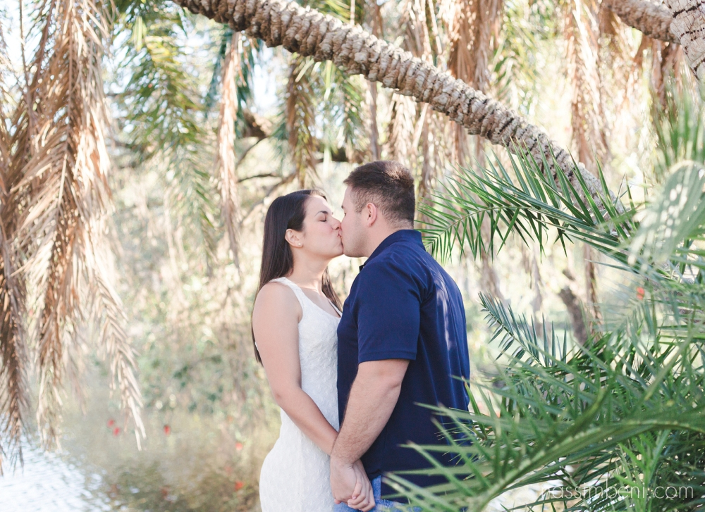 Nassimbeni Photography tropical engagement photos in the treasure coast