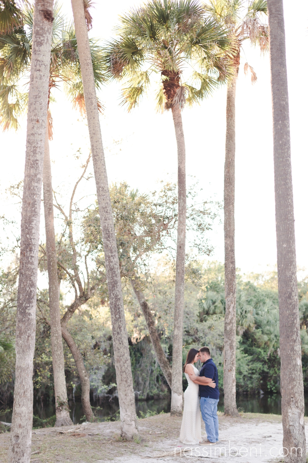 tropical fort pierce engagement photos by Nassimbeni Photography