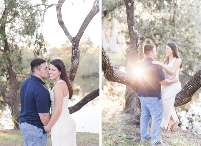 engagement photos at white city park taken by port st lucie wedding photographer Nassimbeni Photography