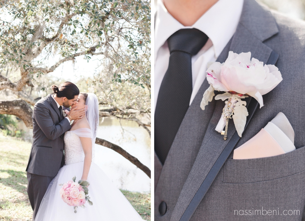 bride and groom wedding photos at white city park in fort pierce by Nassimbeni Photography