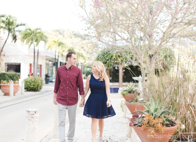 port st lucie engagement photographer for weddings at worth avenue engagement photos
