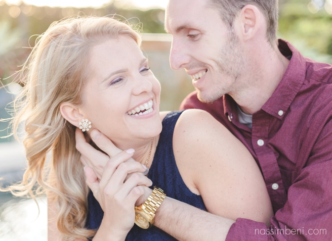 sweet laughter at worth avenue engagement photos by nassimbeni photography