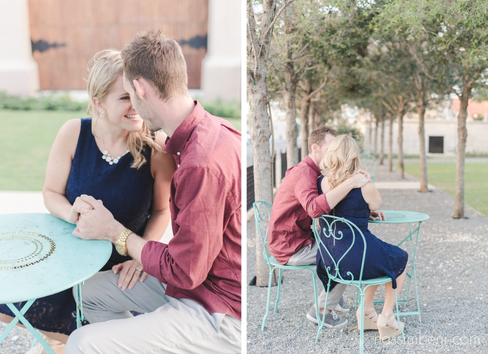 cute engagement photos at palm beach memorial fountain