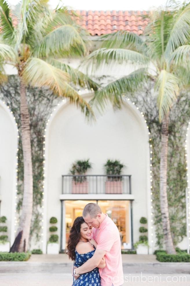palm trees engagement photos by nassimbeni photography