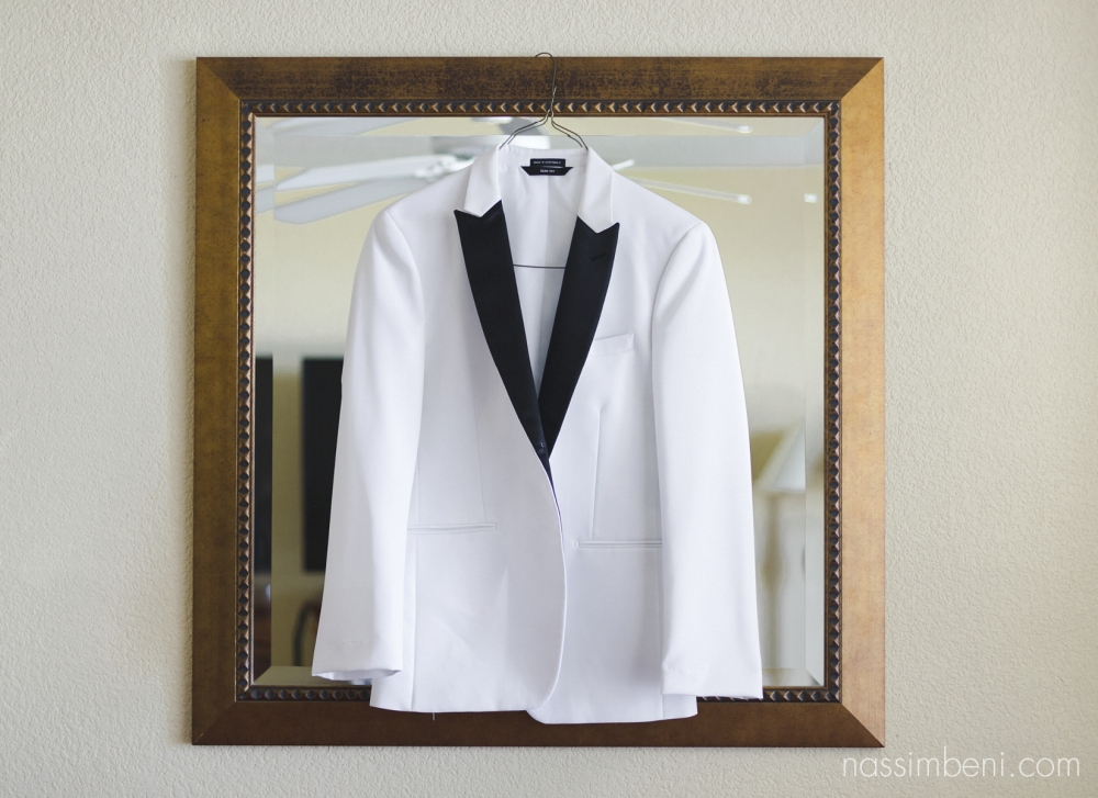 grooms wedding attire, white tux