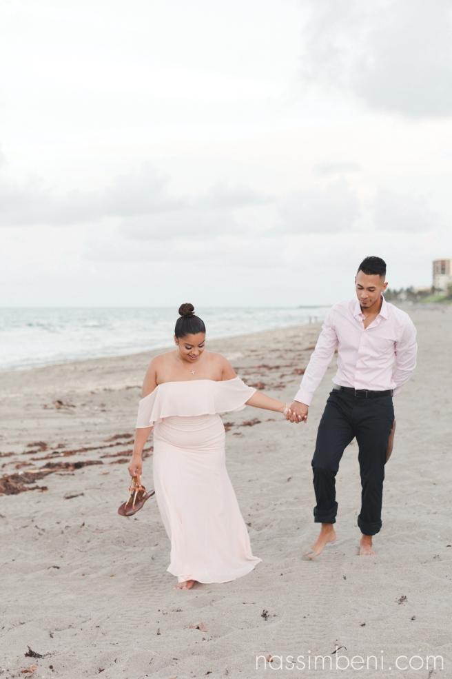 elegant blush engagement outfit - nassimbeni photography
