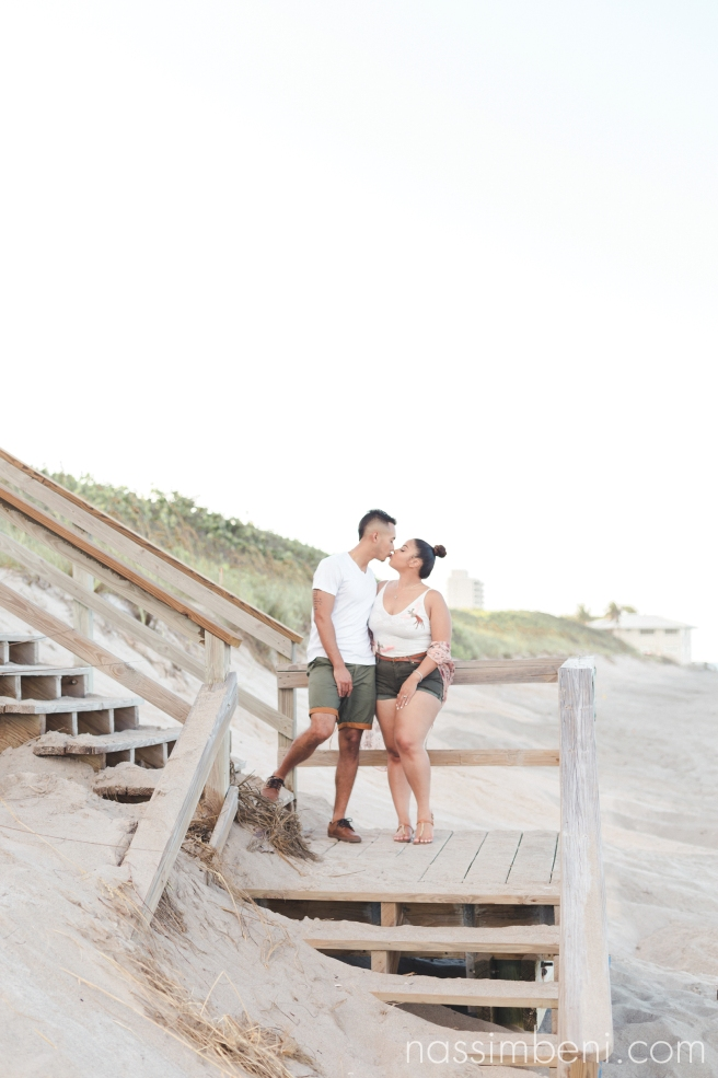 casual beach engagement outfits - coral cove park florida