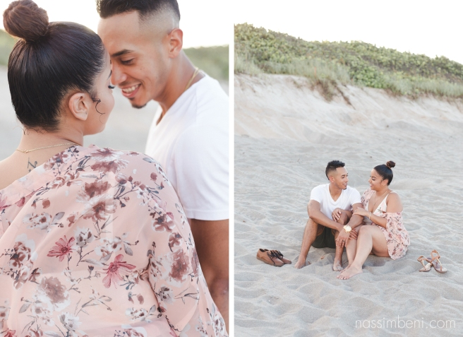 engagement session by the sea in requests florida