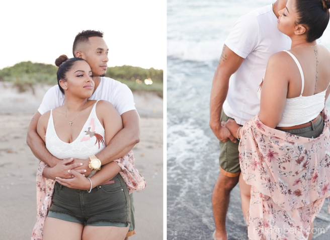 intimate oceanside engagement session in Florida