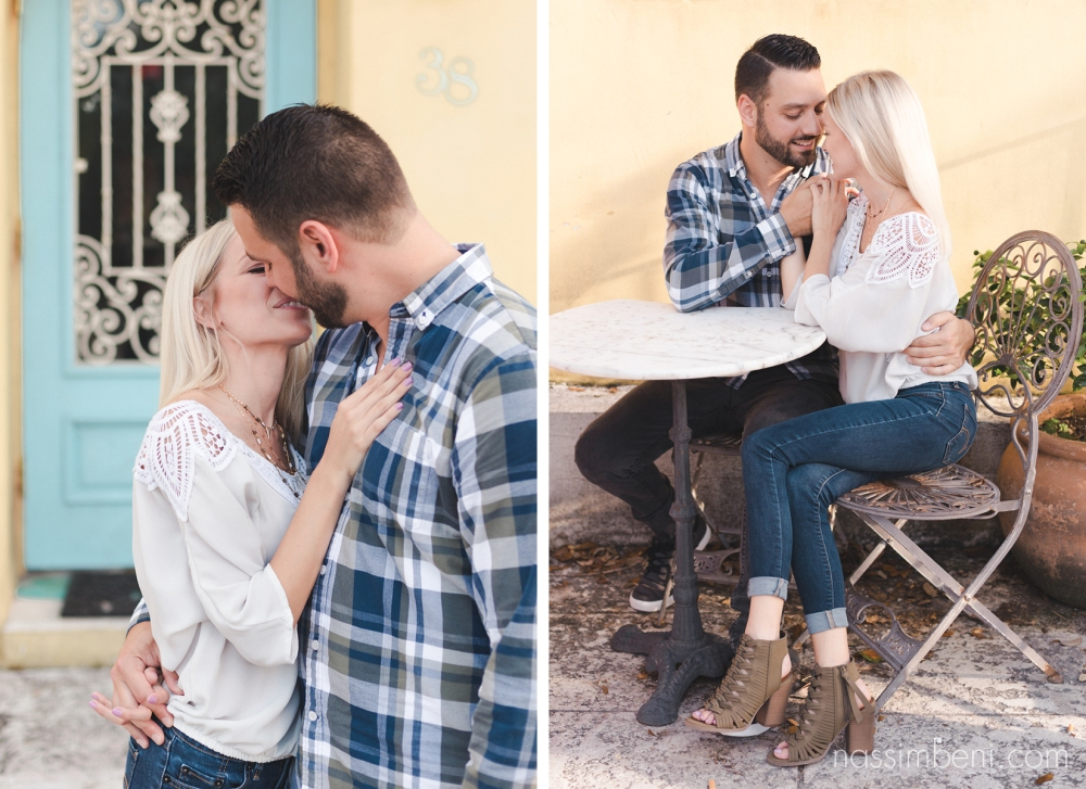 colorful coffee shop engagement photos - nassimbeni photography
