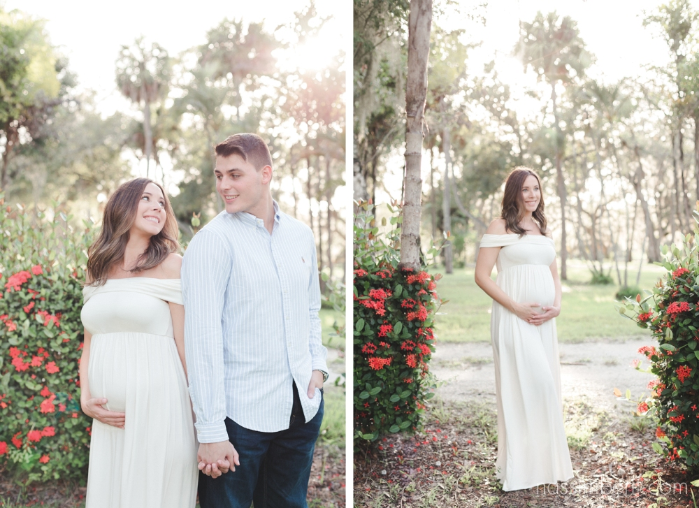 a pea in the pod white off the shoulder maternity gown - nassimbeni photography