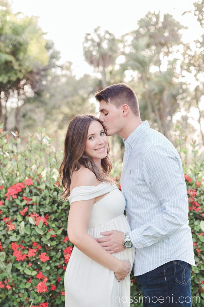 maternity photos outfit - garden maternity session - nassimbeni photography of port st lucie maternity photographer