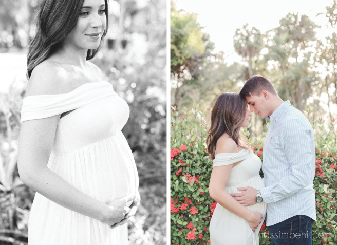 Garden maternity session at white city park, ft pierce florida - nassimbeni photography