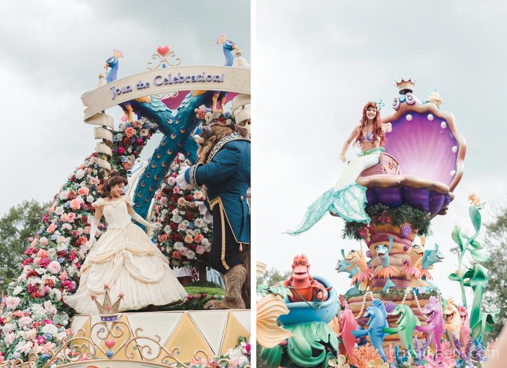 parade floats at disney world