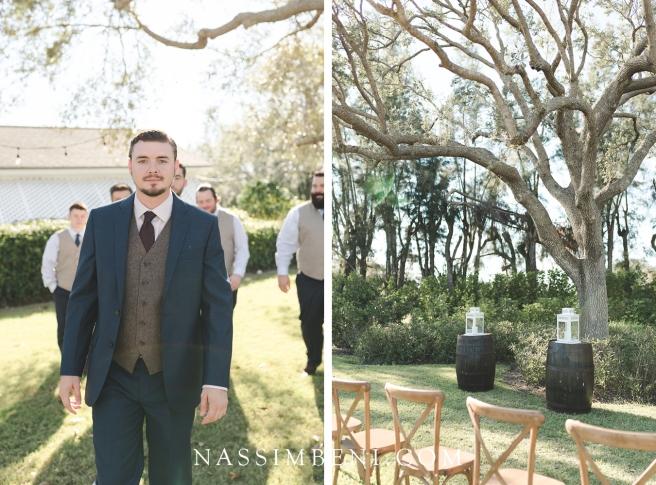 groom at plantation wedding venue in florida