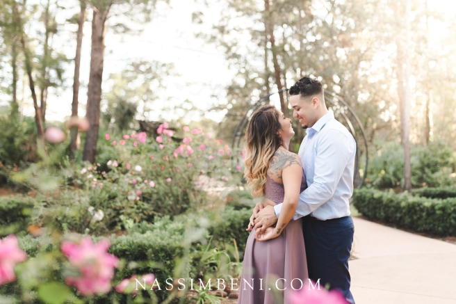 port st lucie botanical gardens engagement session outfit