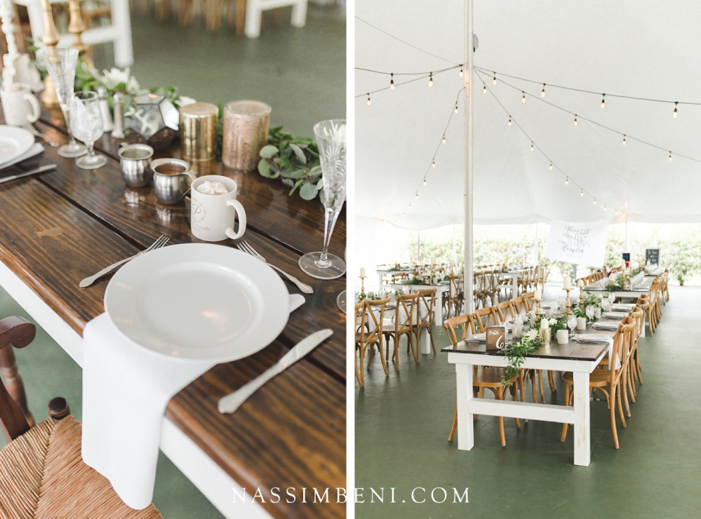 reception decor at bellewood plantation