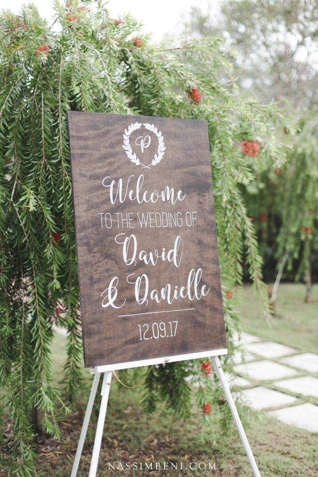 ceremony sign at bellewood plantation