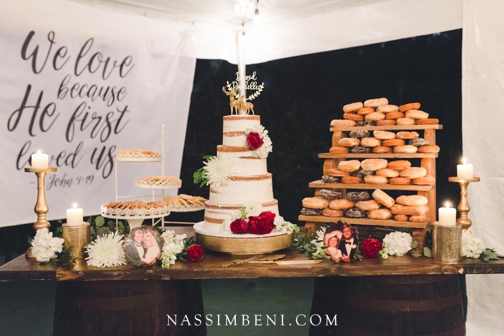 cake table decor at bellewood plantation