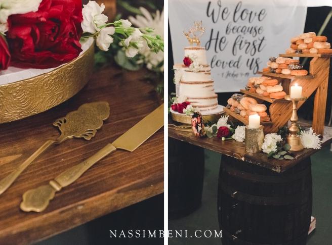 cake table details - bellewood plantation