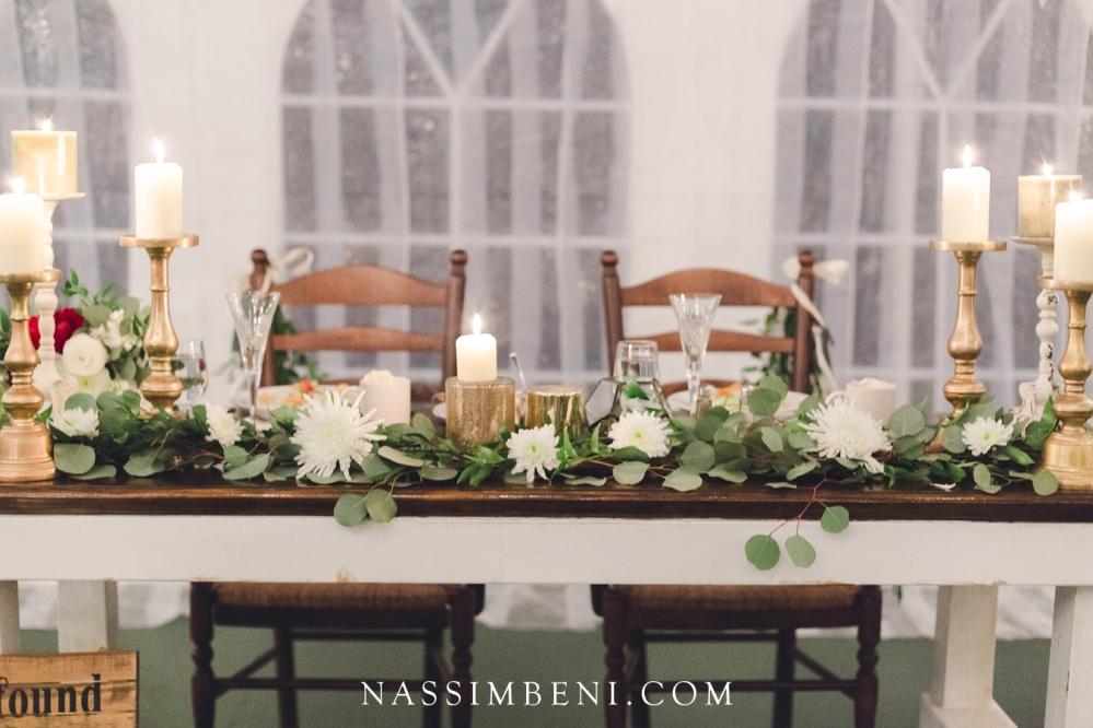 tent wedding bellewood plantation sweet heart table