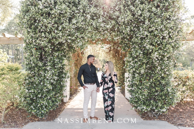 port st lucie botanical gardens engagement photos - nassimbeni photo & films