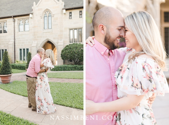 Engagement photos in Church of Bethesda by the Sea -