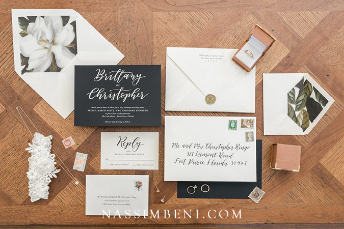 Alexis and Lynn Calligraphy and design wedding invitation suite - Nassimbeni photo and films