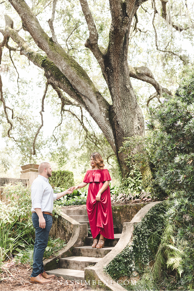 Engagement at the Bok Tower Gardens - Lake Wales
