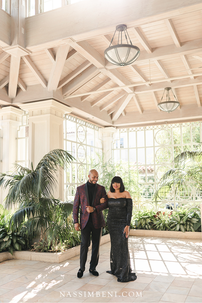 photos at the society of four arts in palm beach - nassimbeni photo & films engagement session
