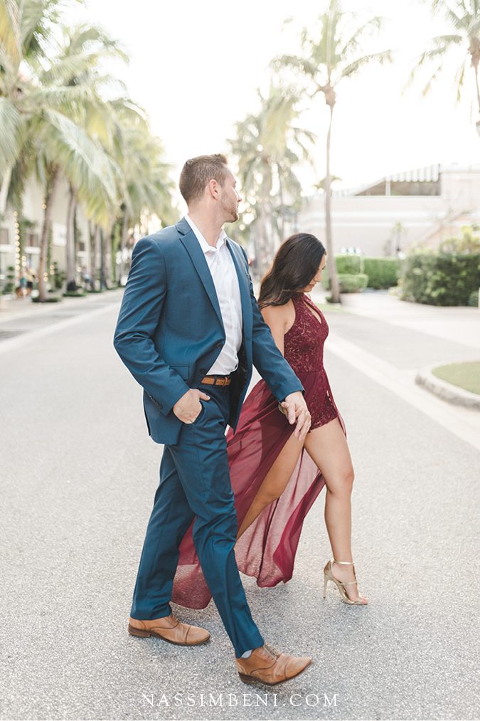 Worth Ave engagement photos in elegant outfits - nassimbeni photo & films