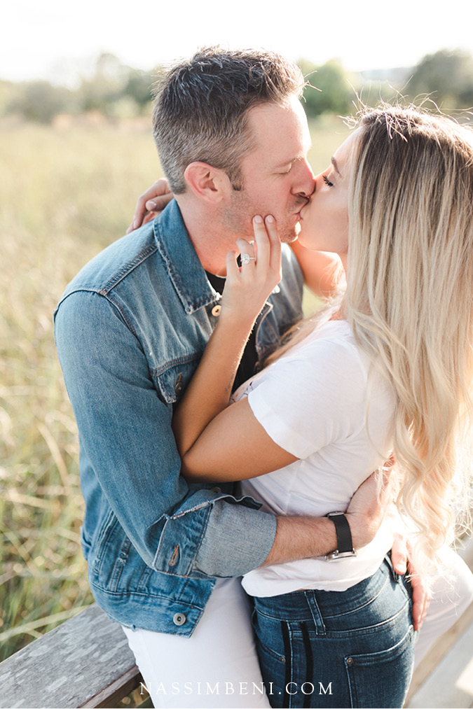 Spanish river engagement photos