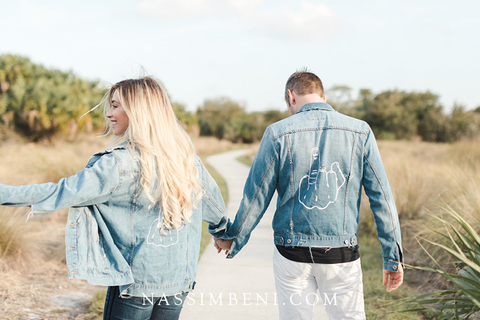 Hubs and hers jean jacket engagement photos - Nassimbeni photo and films