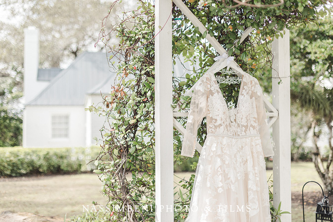 Olivia Bowen Bridal Gown at the lake house venue